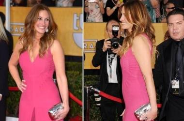 Стиль звезды: не беременная Джулия Робертс в розовом трико (фото)