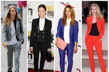 Мода по-мужски: звездные дамы выбирают брючные костюмы (фото)