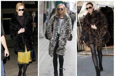 Мода 2014: любимые шубы знаменитостей (фото)