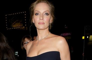 BAFTA 2014: потрясающая Ума Турман в голом платье (фото)