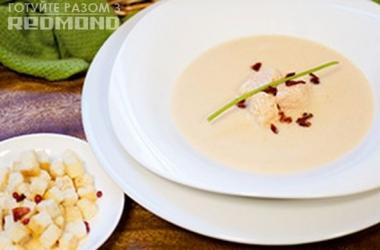 Готовим вместе с Redmond крем-суп с семгой <br />   Рецепт дня!
