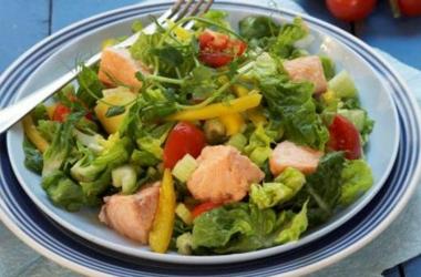 Овощной салат с норвежской семгой. Рецепт