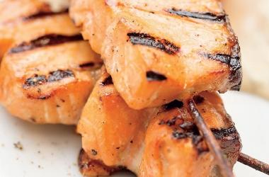 Шашлык из лосося с тимьяном и апельсином. Рецепт (фото)