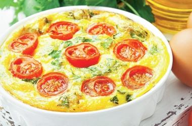 Фриттата (омлет) с помидорами и сыром. Рецепт (фото)