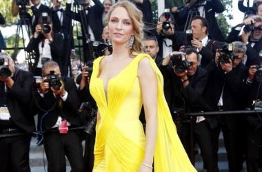 Модные Канны 2014: Ума Турман в убийственно красивом платье (фото)