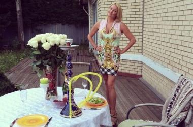Анастасия Волочкова в бане с  массажисткой (фото)