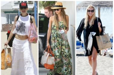 Пляжная мода 2015: какие пляжные сумки выбирают звезды