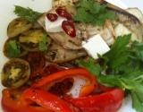 Овощи-гриль: простое блюдо из баклажанов, помидоров и болгарского перца