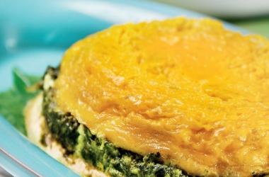 Рецепты из яиц: суфле из яйца со шпинатом
