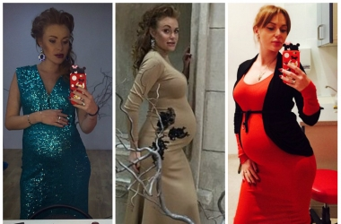 754e485790b В чем встречать Новый год 2015 беременной  4 идеи от беременной Славы (фото)
