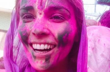 Сати Казанова побывала в Индии на фестивале красок: потрясающие фото