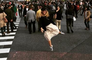 Дрю Бэрримор оторвалась в Токио по полной