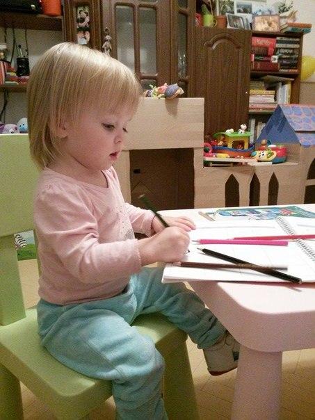 Варвара да Винчи, или как научить ребенка рисовать и правильно держать карандаш - в папском блоге Владимира Бойко в 2019 году
