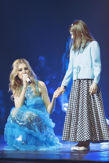 Ольга Горбачева с дочкой