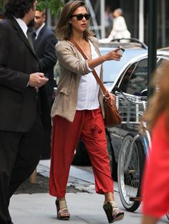 Джессика Альба в Нью-Йорке. // Фото: Splash News