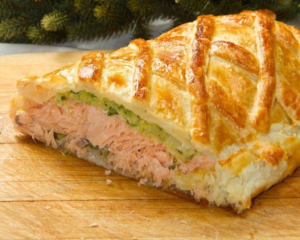 Пирог с лососем рецепт с фото