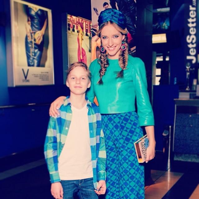 Катерина Осадчая с сыном Ильей