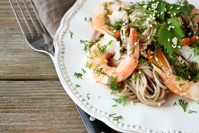рецепты креветки ширатаки морепродукты