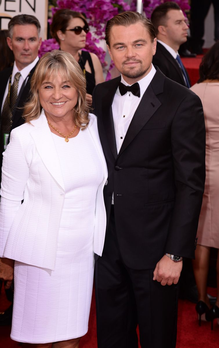 Леонардо ДиКаприо с мамой