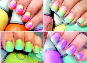 Ногти дизайн переход цвета фото