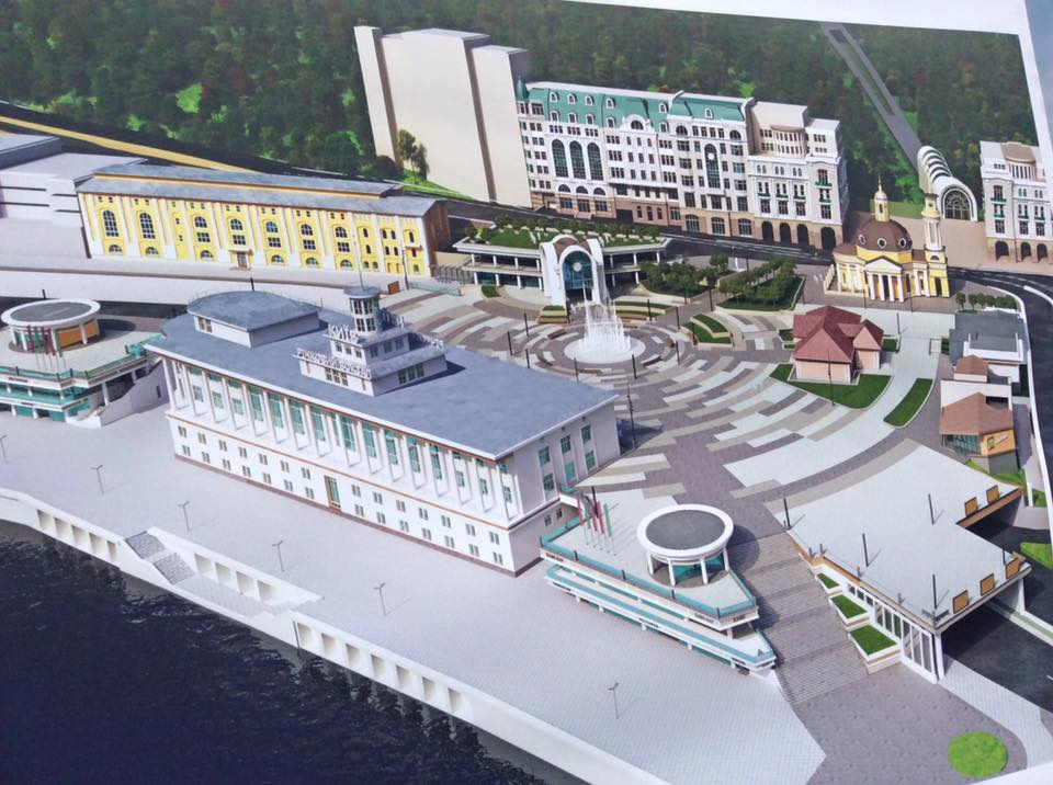 Реконструкция Почтовой площади в Киеве ко Дню Независимости Украины 2015