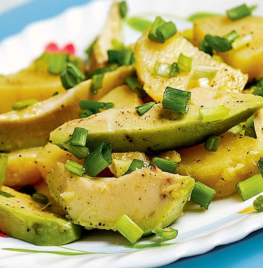 авокадо с картошкой