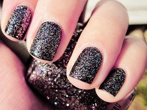 Дизайн ногтей черных фото