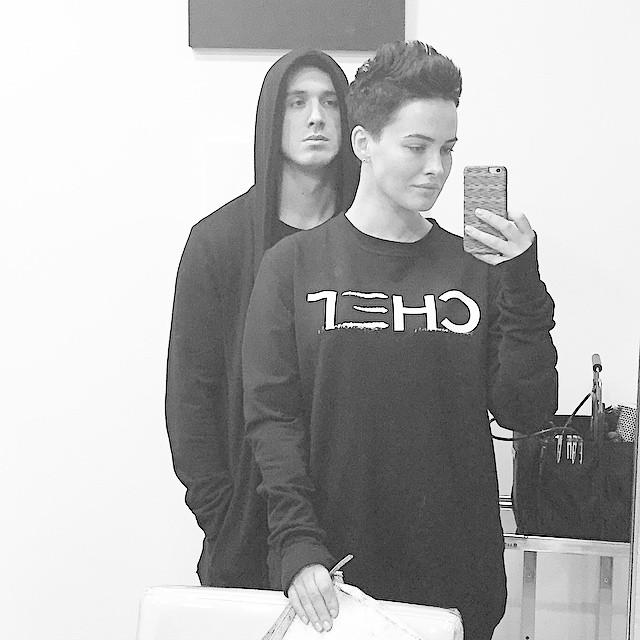 Даша Астафьева с братом