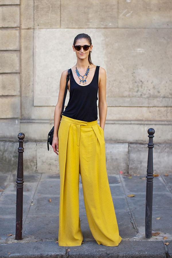 мода весна лето 2015 тренды брюки-палаццо