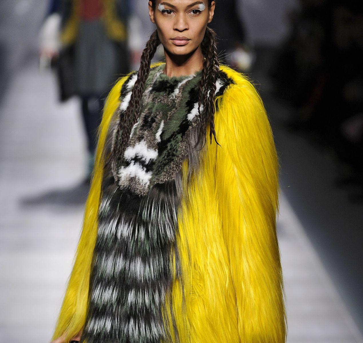 яркий мех мода зима 2013