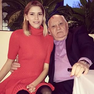 Михаил Горбачев и Елена Перминова