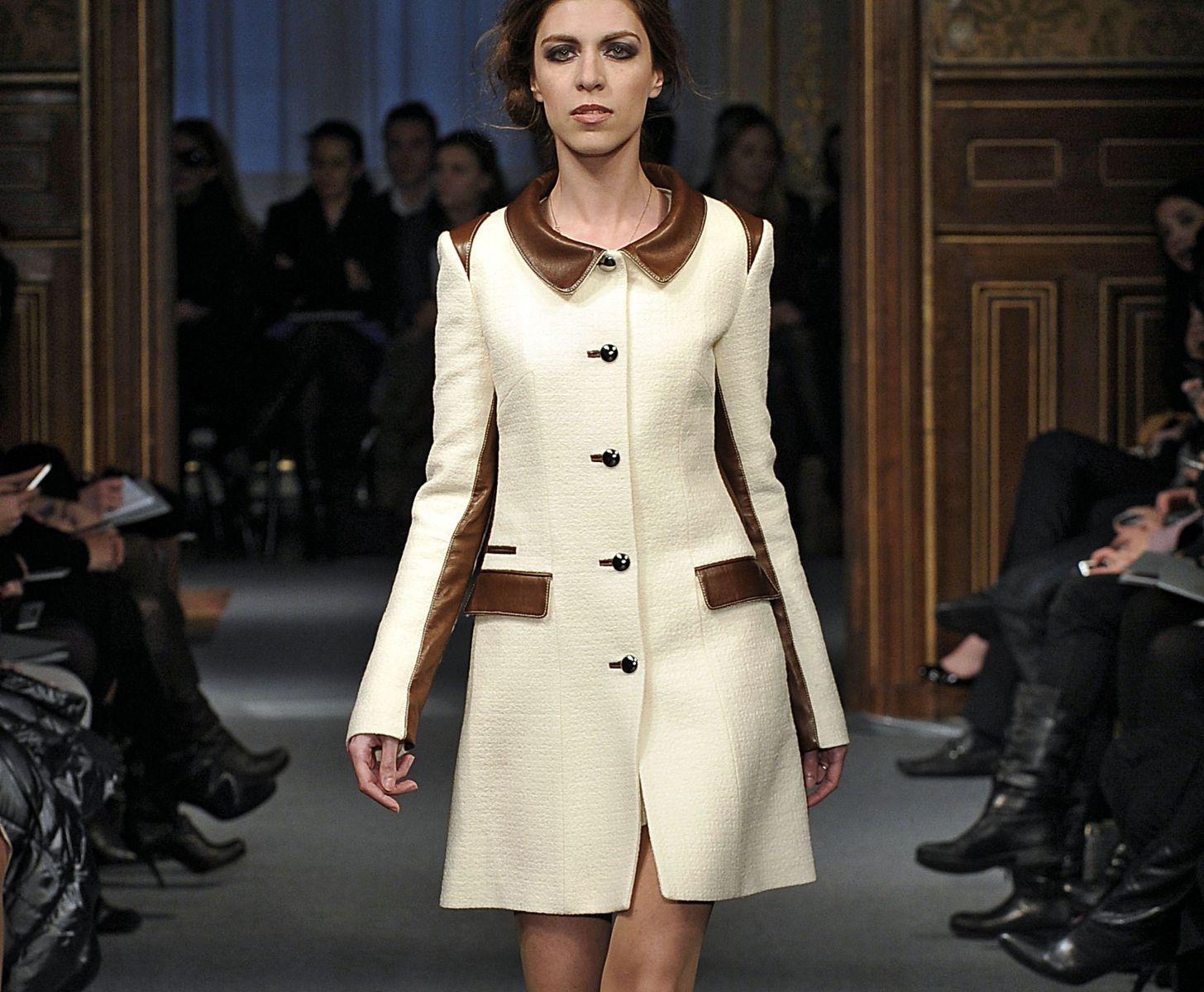 пальто в стиле 60-тых