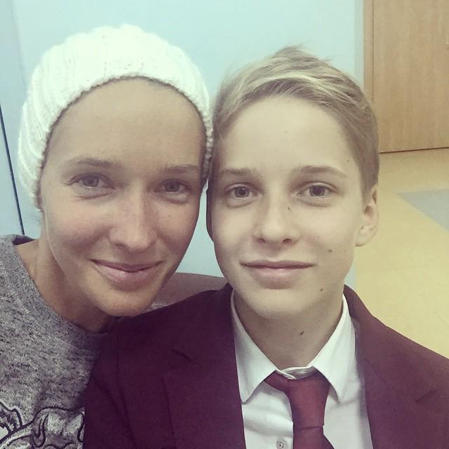 Катя Осадчая с сыном фото