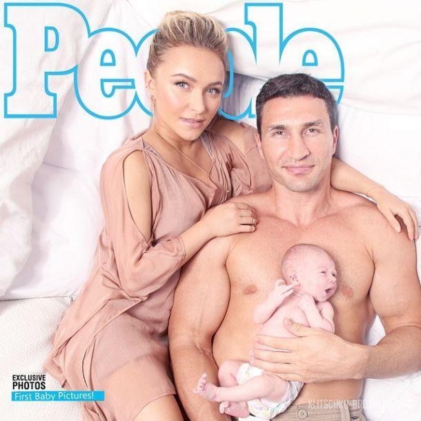 Владимир КЛичко ХАйден Панеттьери новорожденная дочь Кличко фото