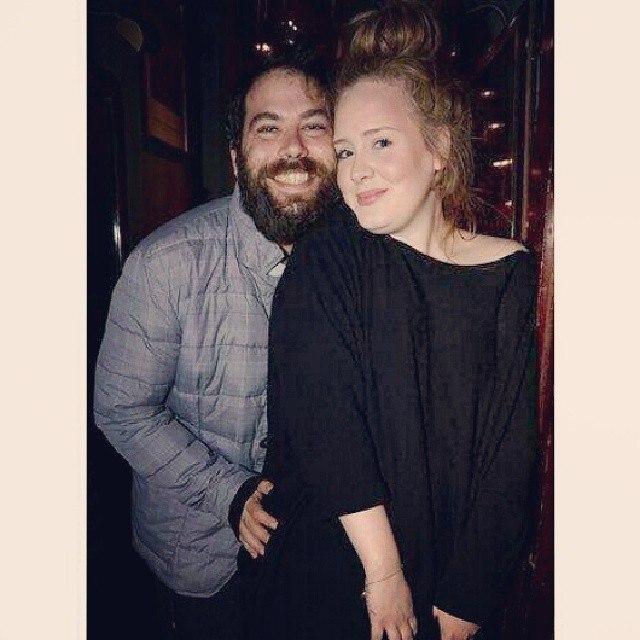 Адель с мужем