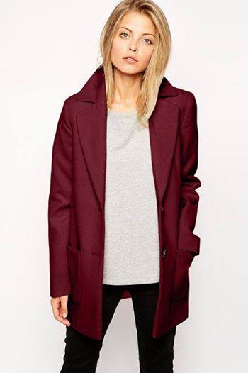 пальто марсала