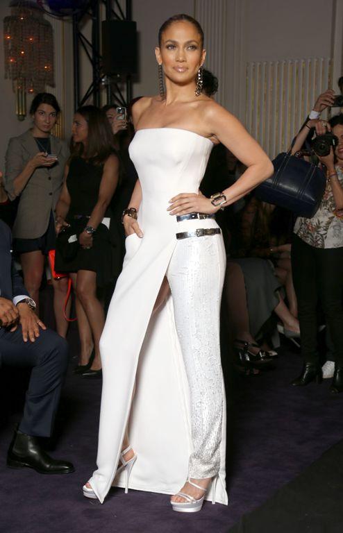 Джей ло платье белое