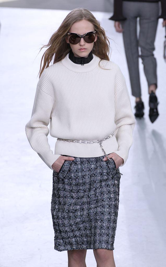 мода осень 2015 как носить белый свитер