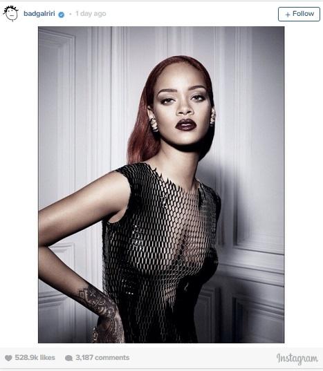Рианна для Dior Instagram