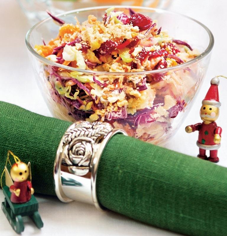 салат из капусты красной и белой