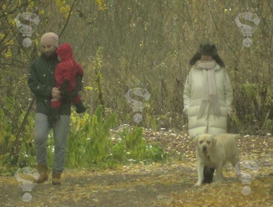 Жанна Фриске с мужем и сыном