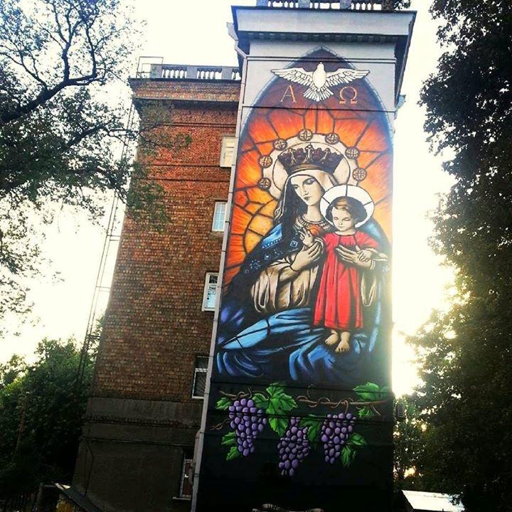 В Киеве появился новый мурал - икона (фото)