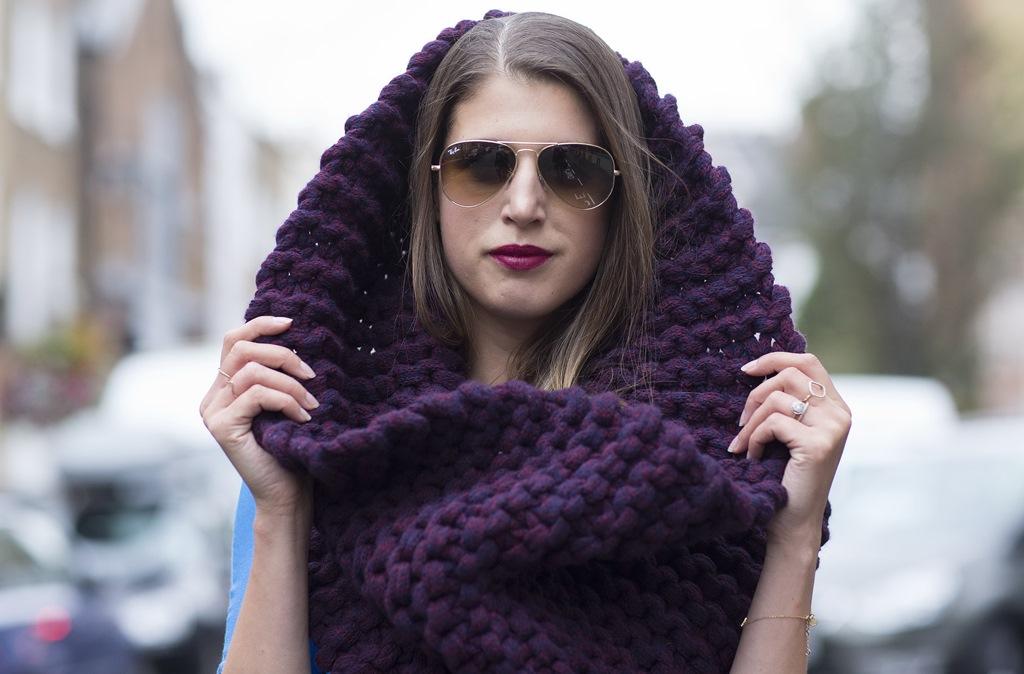 как носить шарф снуд шарф на голову
